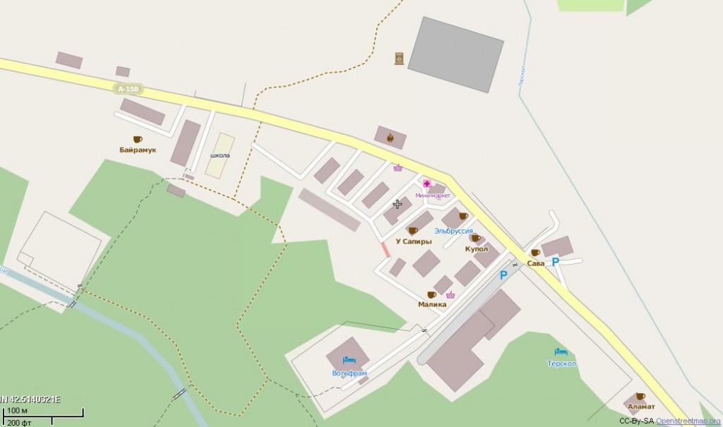 Карта Терскола